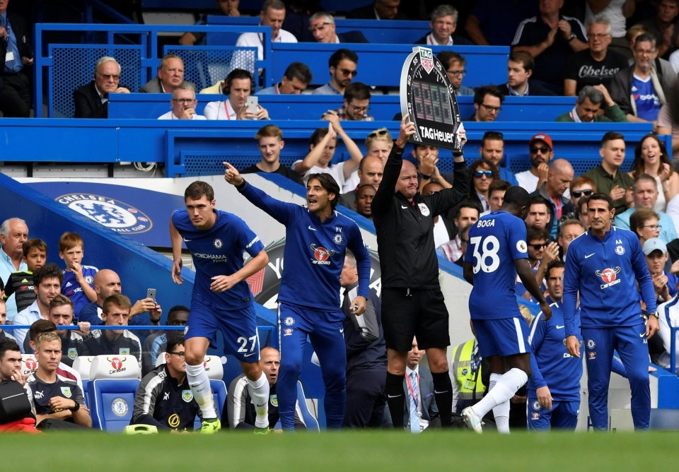 Chelsea youngster Jeremie Boga's debut was short and brief