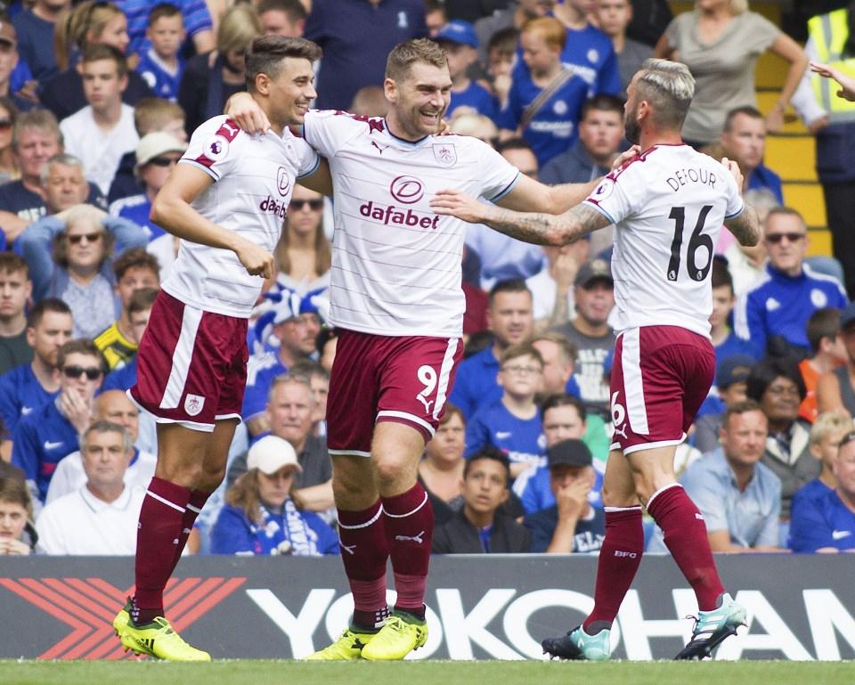 Sam Vokes was the main man as Burnley stunned Chelsea at Stamford Bridge