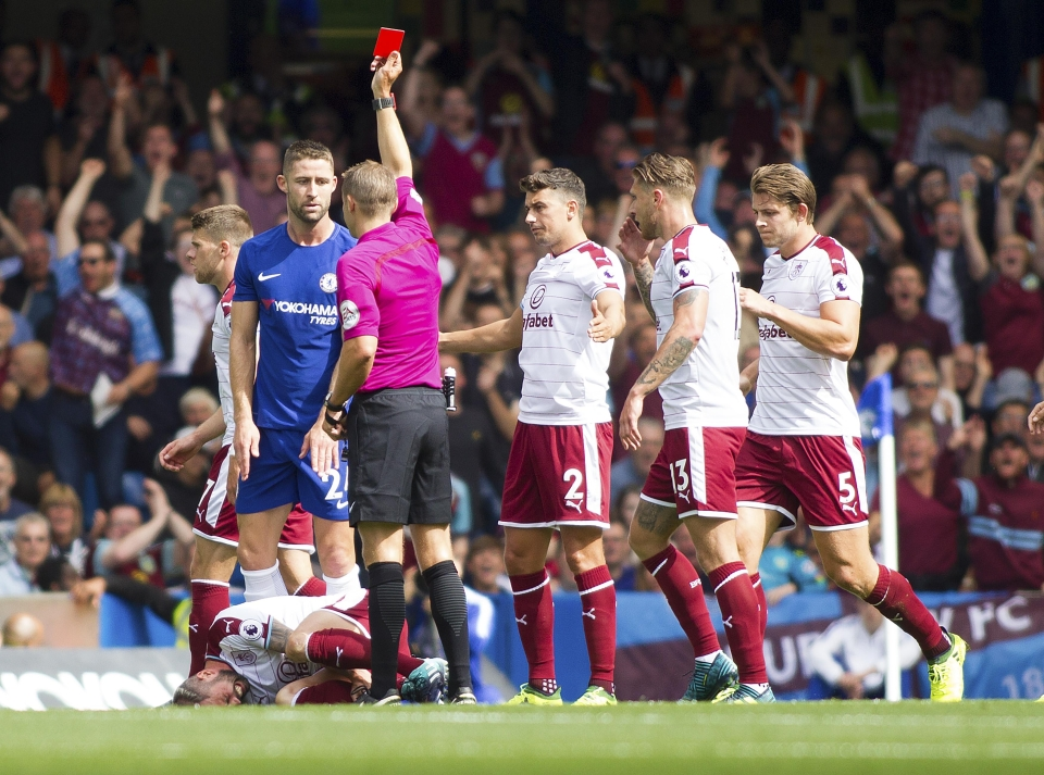 Cahill was suspended after seeing red against Burnley last week