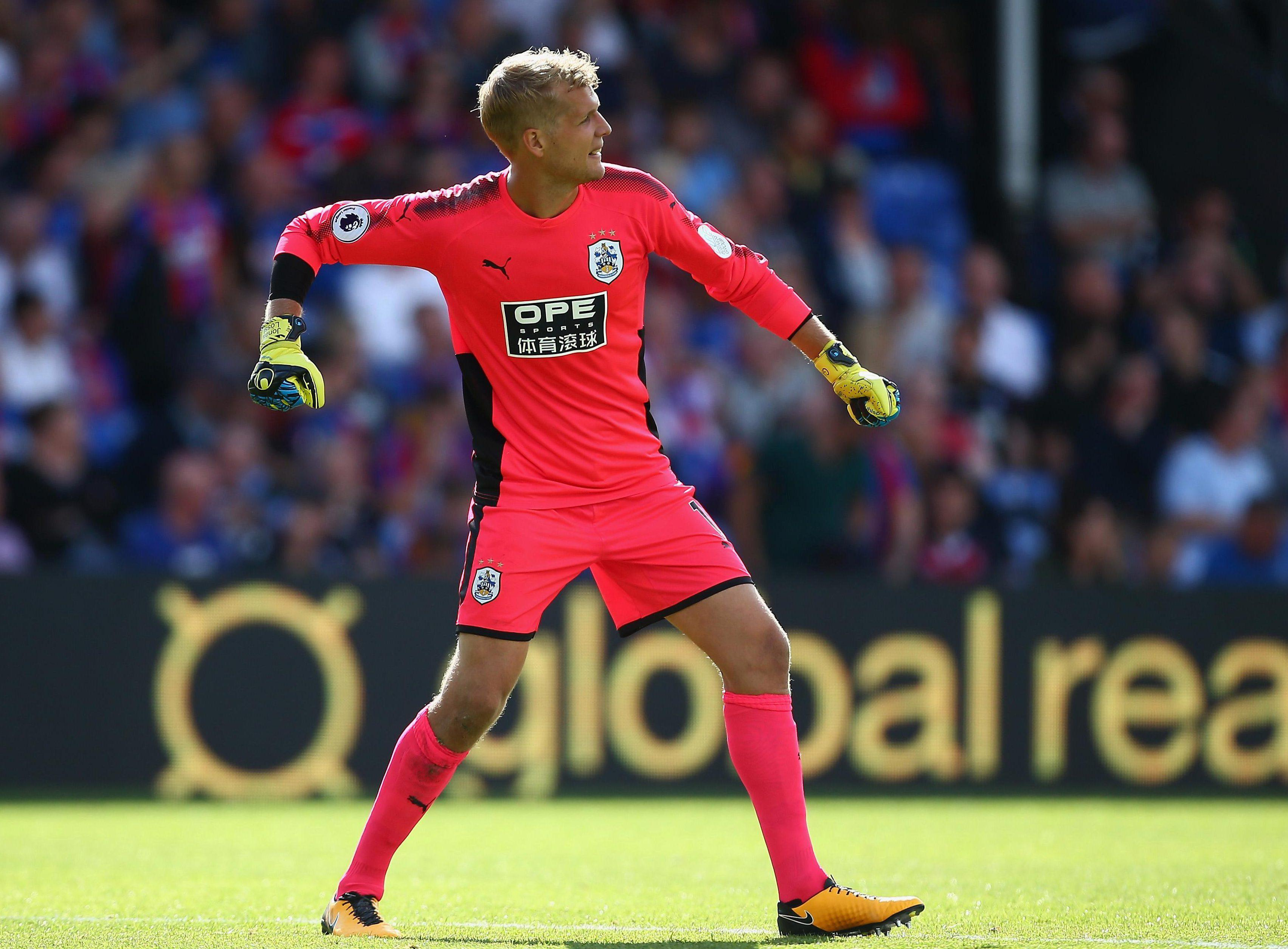 Lossl has impressed between the sticks for Huddersfield so far this season