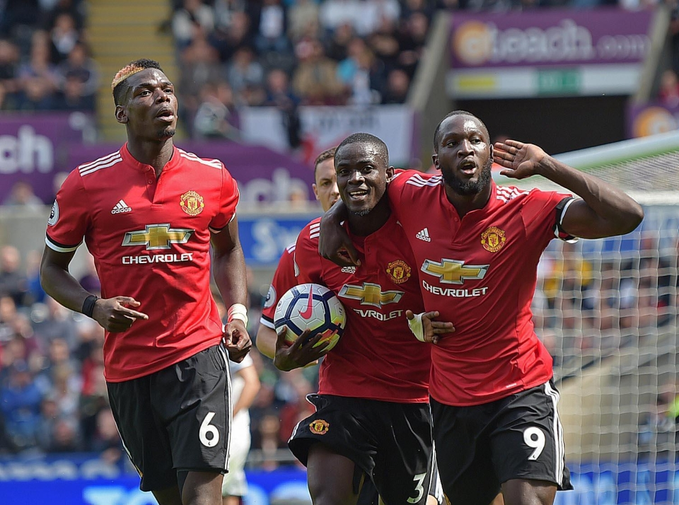 Eric Bailly scored the first goal for Manchester United against Swansea