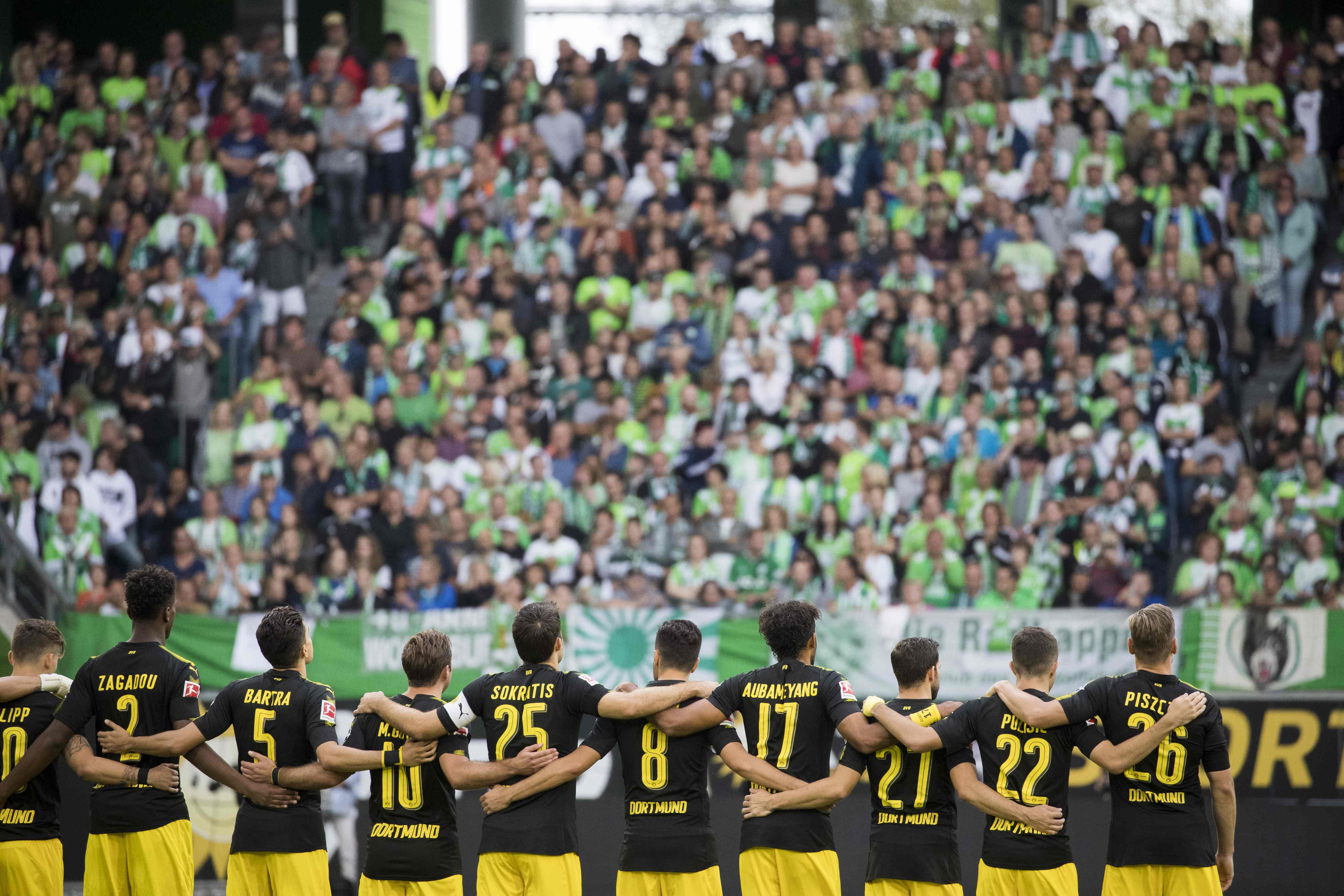 There was a moments silence before kick-off