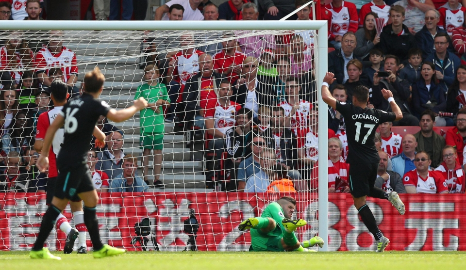 Chicharito softened the blow with his first West Ham goal