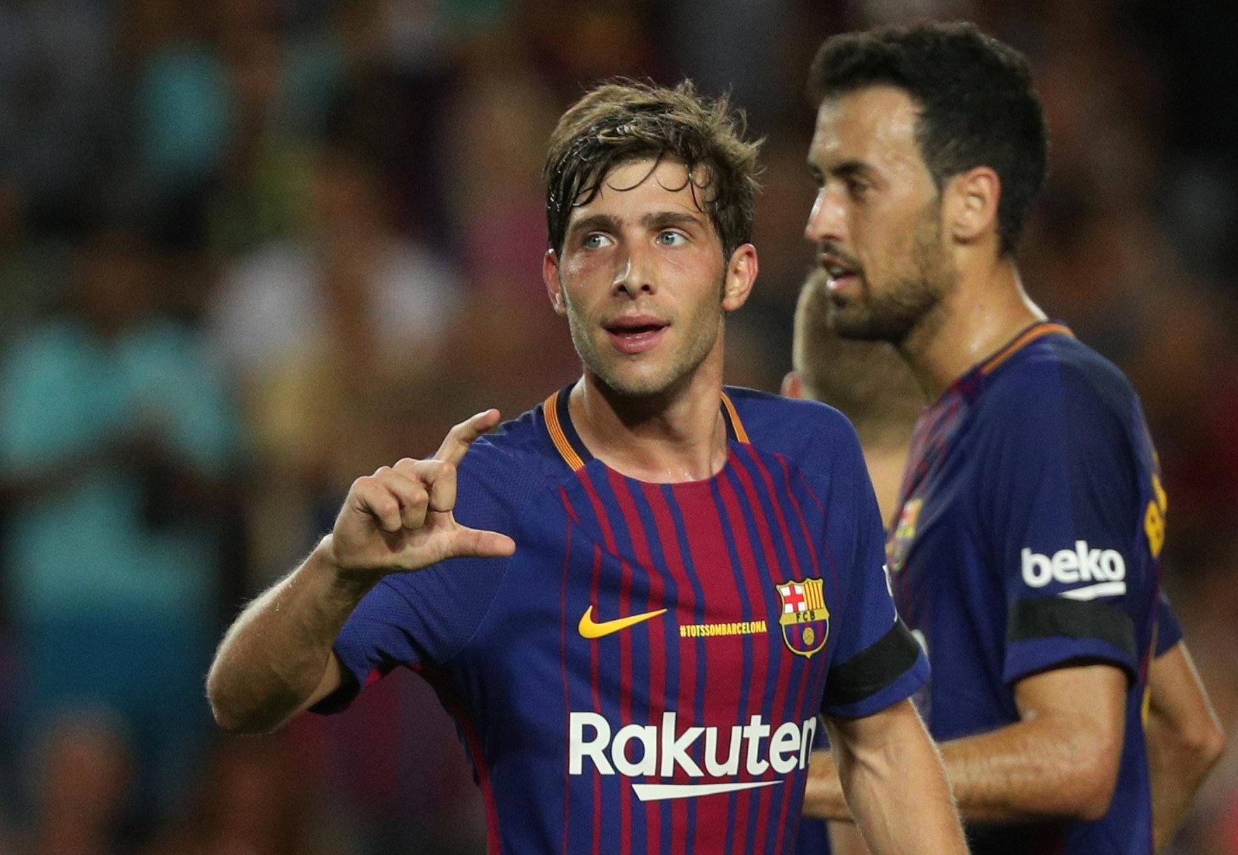 Sergi Roberto has pipped a number of illustrious names