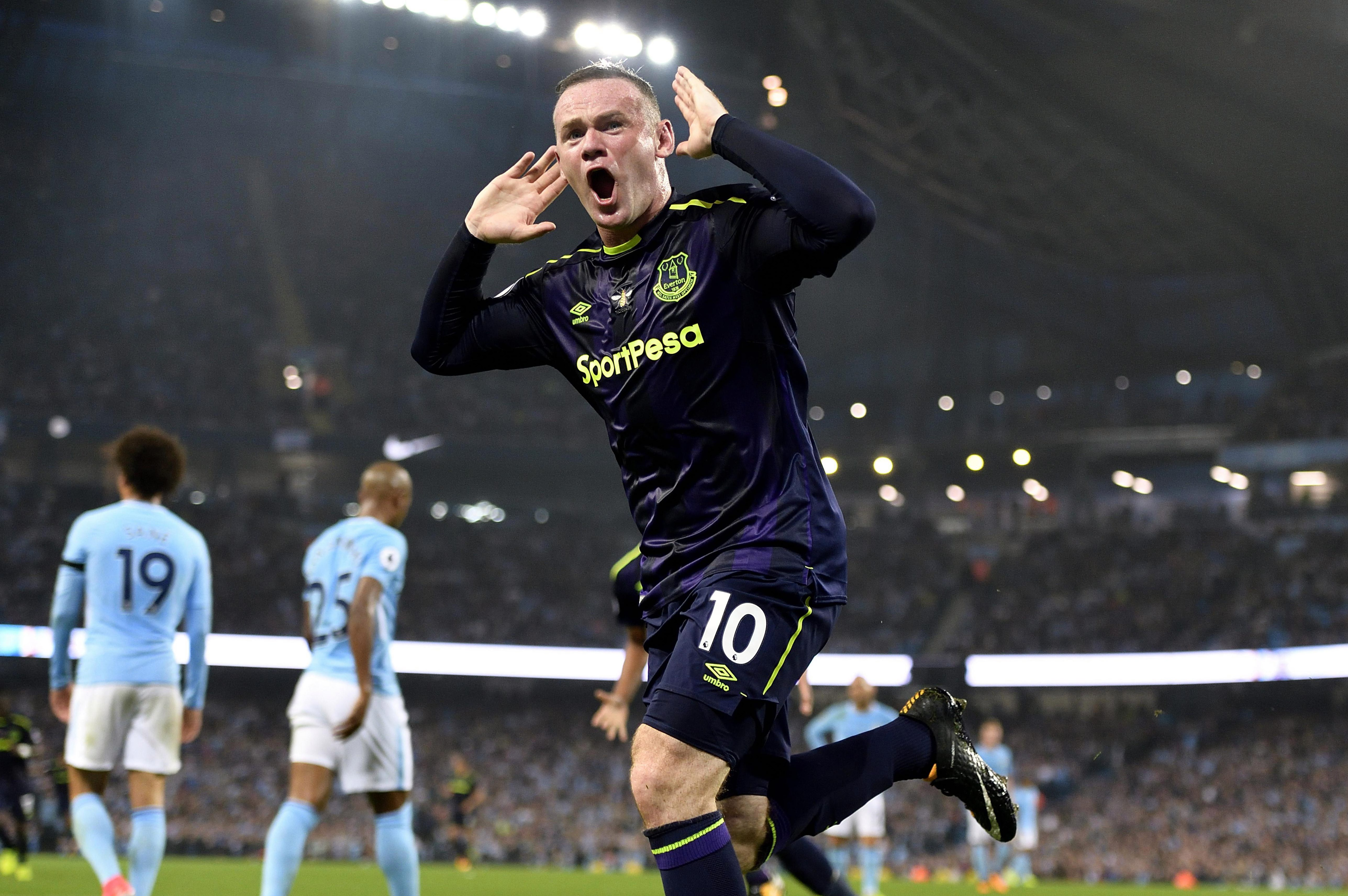 Rooney received a typically hostile reception at the Etihad