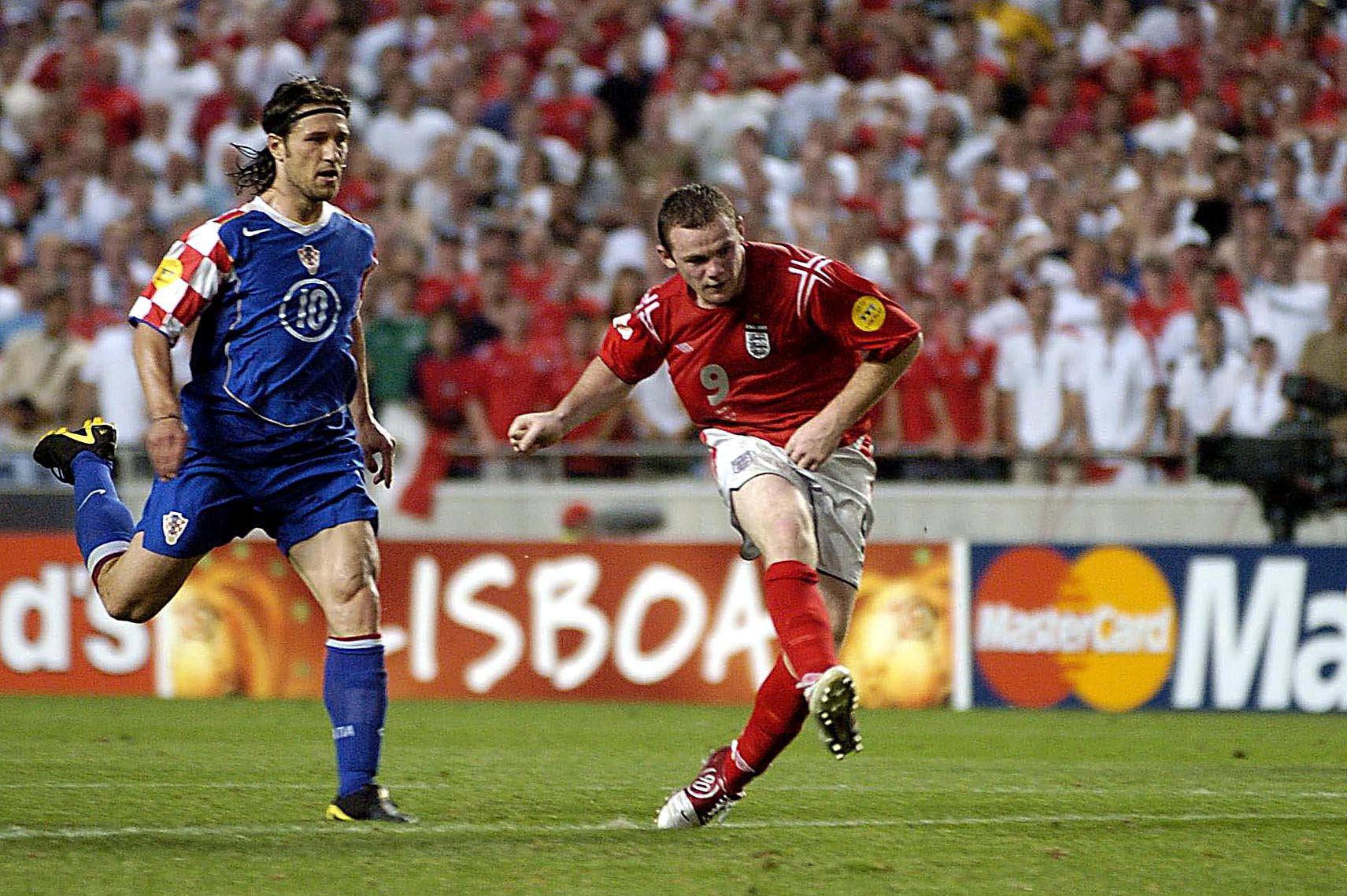 Rooney scored 4 times at Euro 2004 and got the nation purring