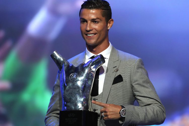 We're sure he'll be delighted with that weird trophy