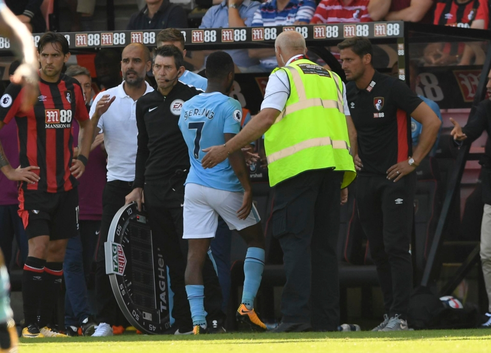 Sterling was given his marching orders