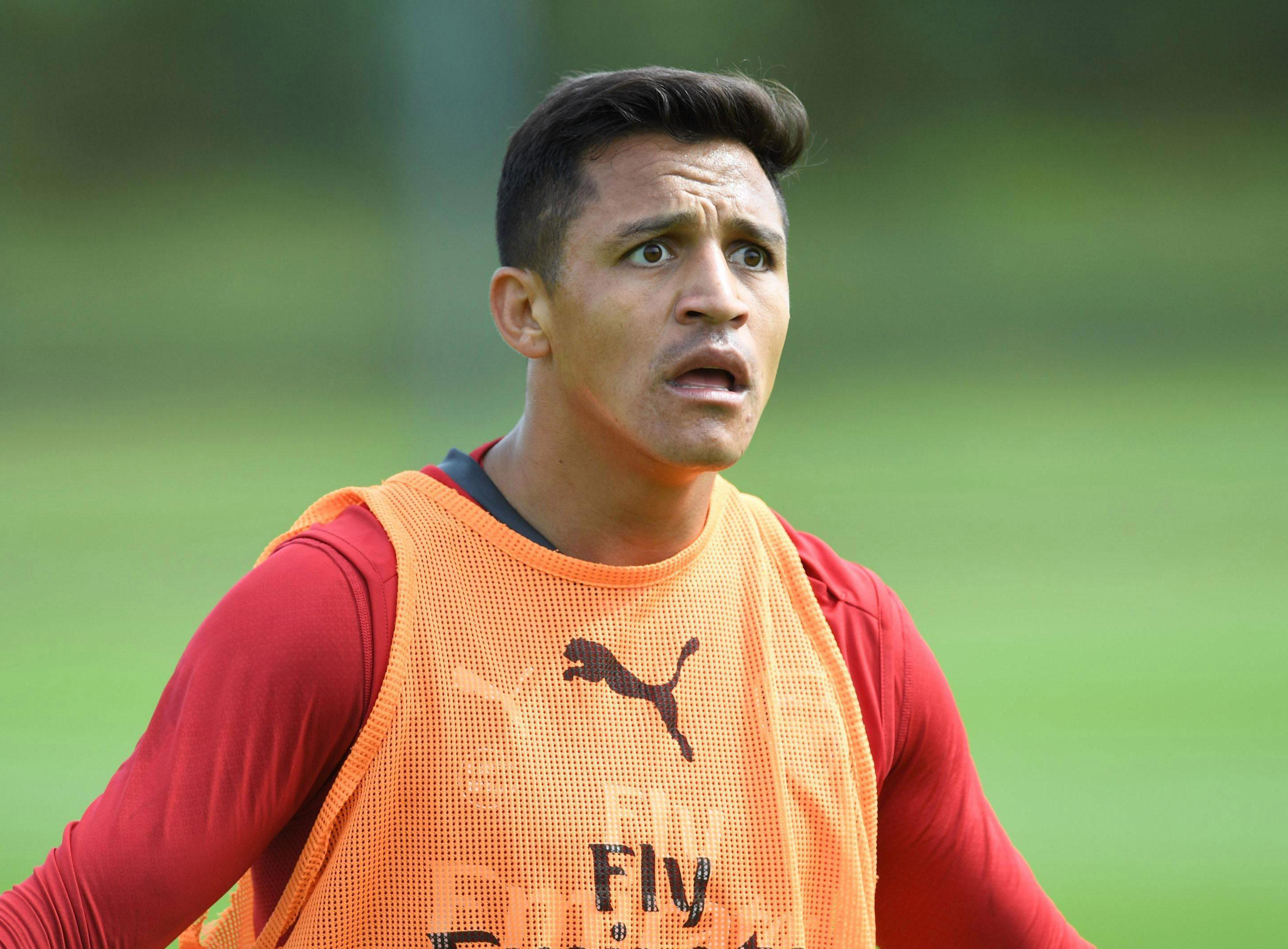 Alexis Sanchez may have completed his last-ever Arsenal training session