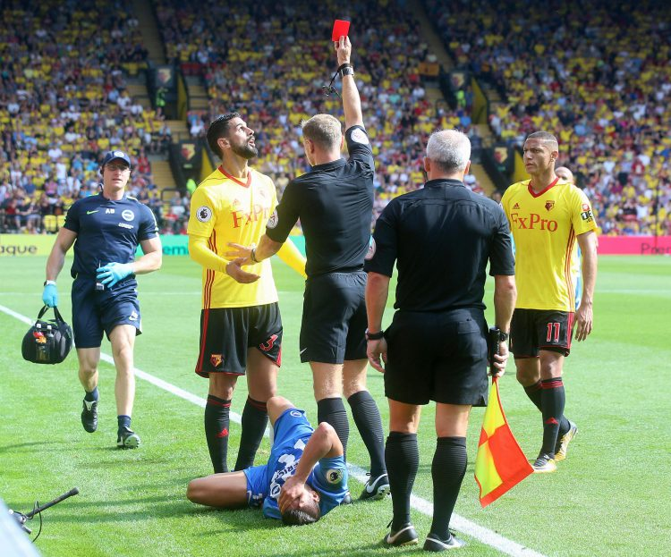 A more deserved red card you're unlikely to find