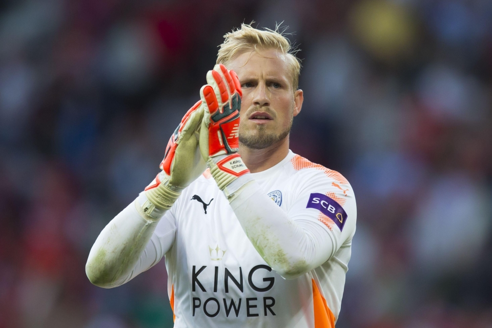 Kasper Schmeichel has now saved more penalties than his dad at Old Trafford