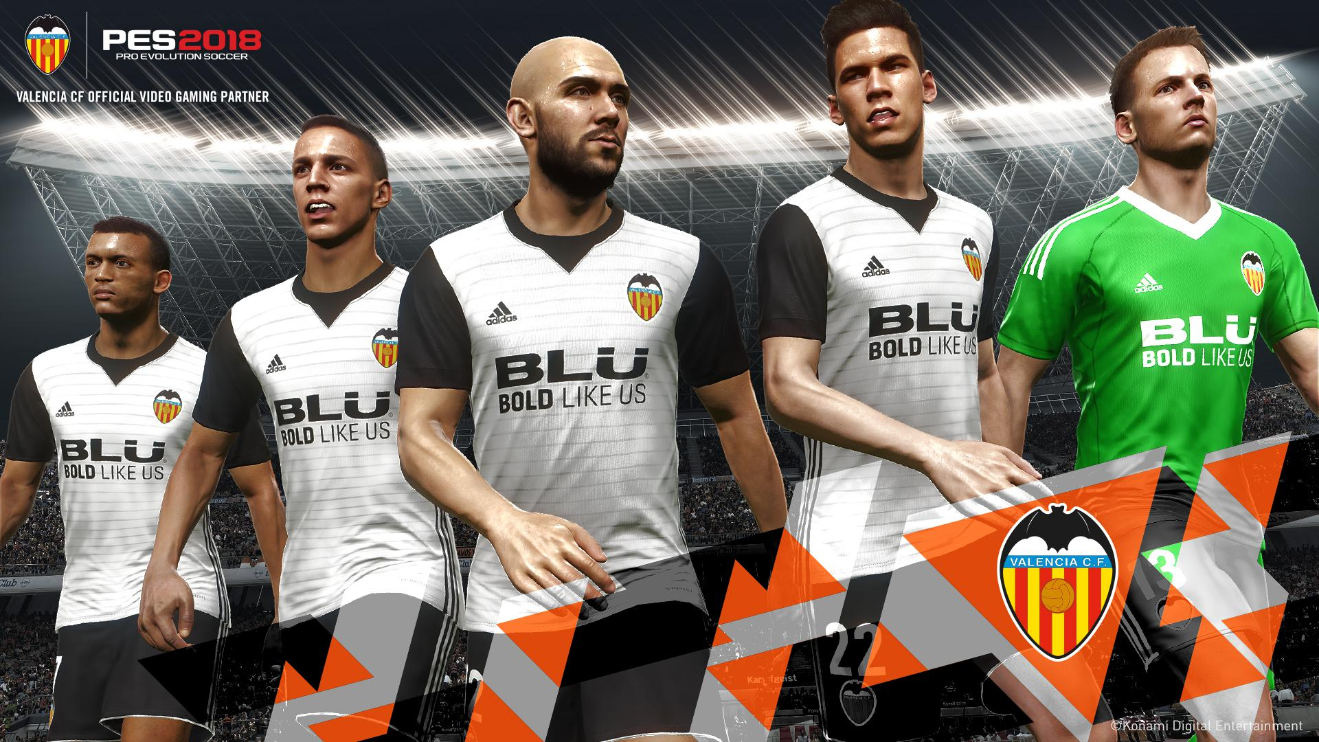 Valencia is the latest team to join the PES family