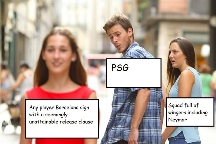 PSG's offer for Dembele came in meme form