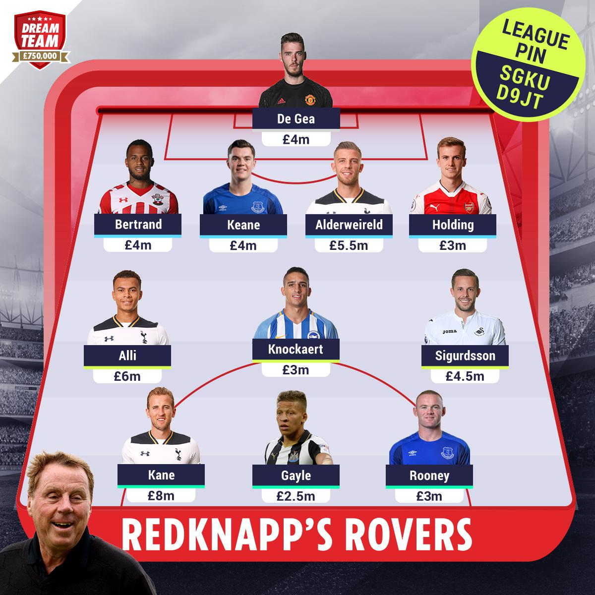 Harry Redknapp's Dream Team - reckon you can beat it?