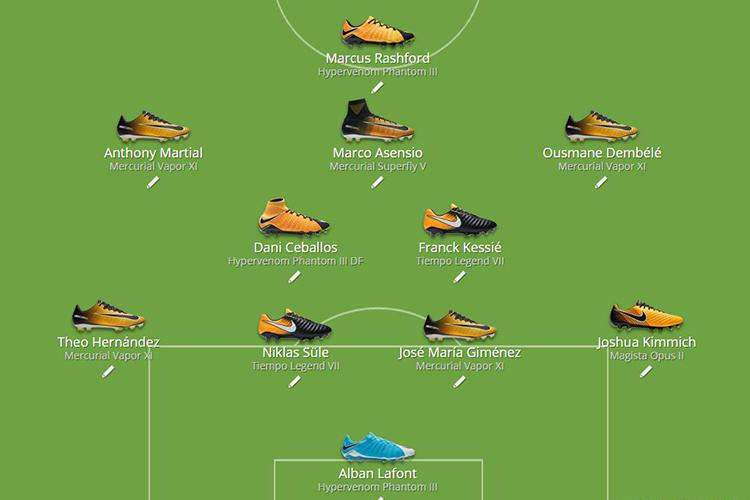 An XI of players eligible to wear Nike's 'Rising Fast Pack'