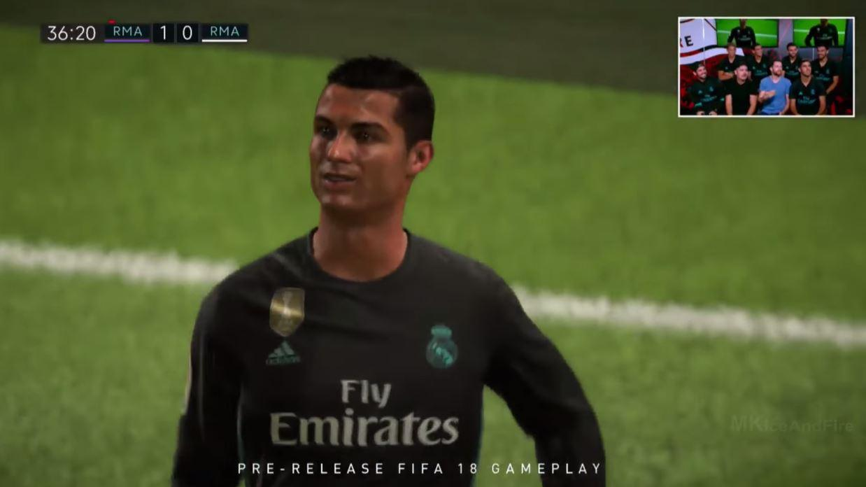 Ronaldo certainly moves as he does in real life but his face isn't quite right in the game