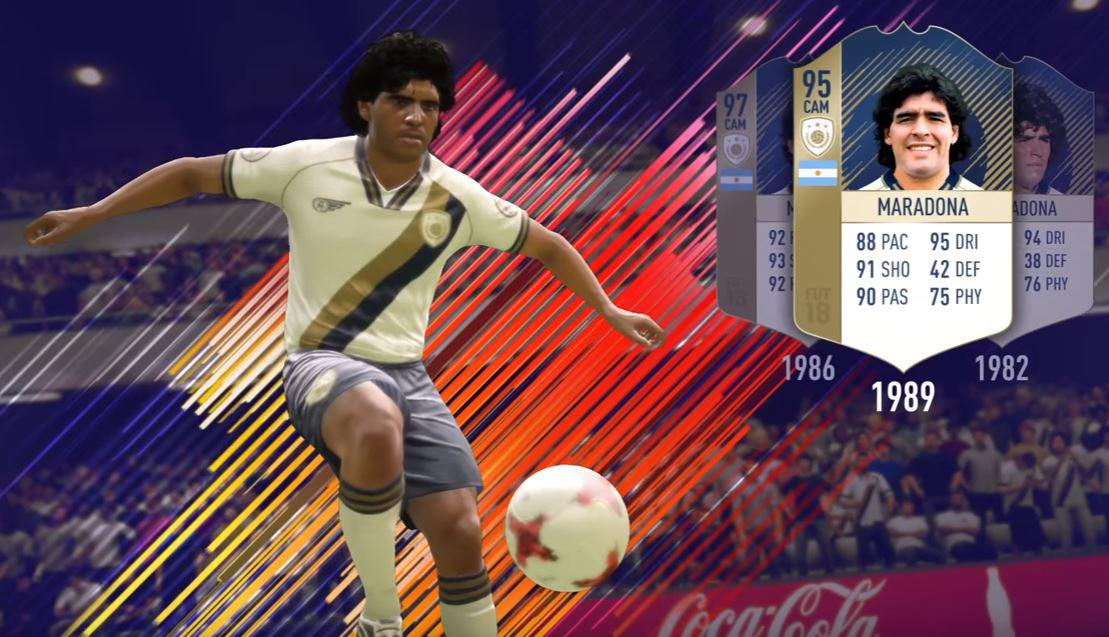 EA will release different versions of Maradona on FIFA 18 Ultimate Team