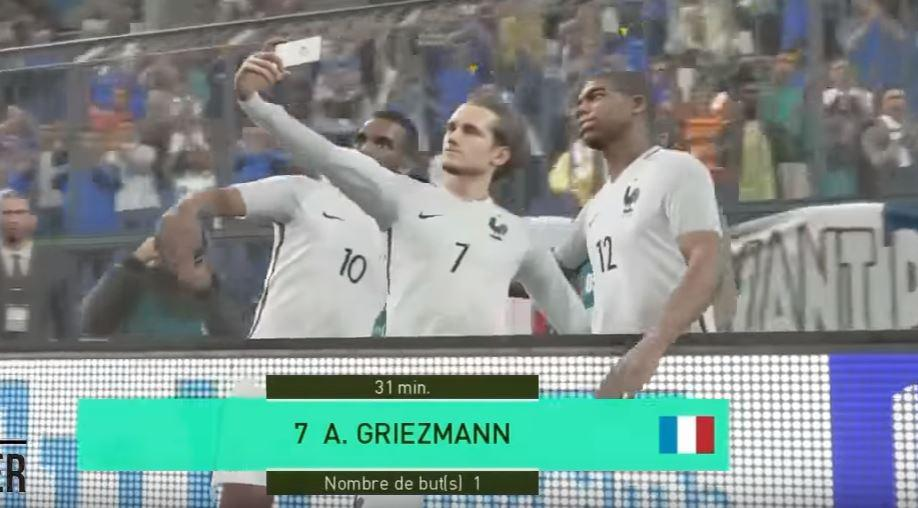FIFA 18 does not include the selfie celebration – but we're not sure why