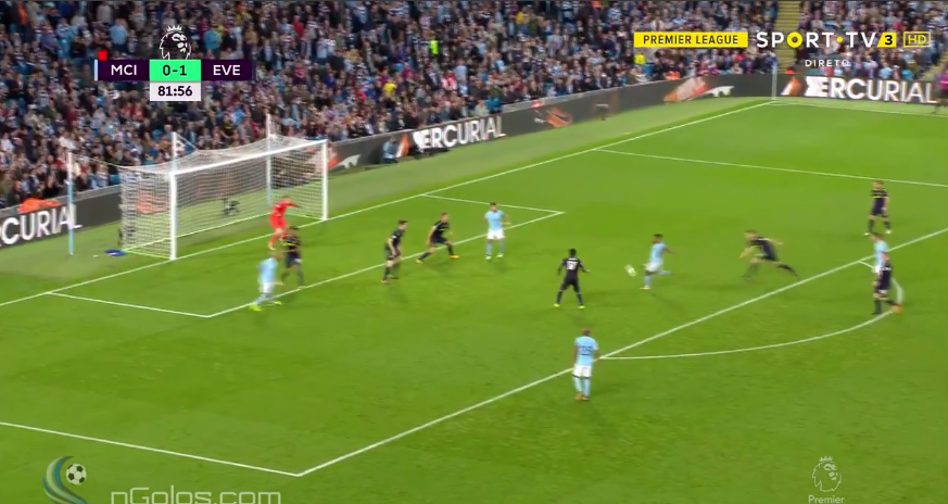 Sterling volleyed first time