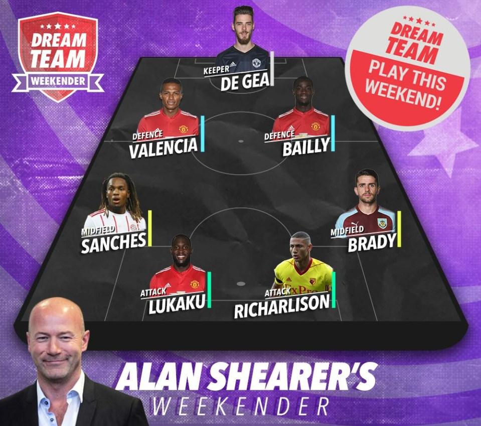 Shearer's Dream Team Weekender team