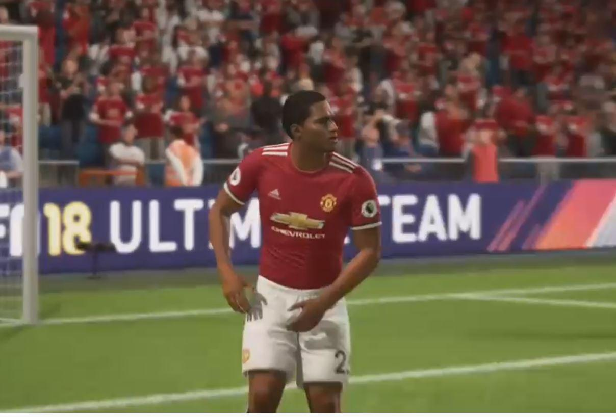 Valencia gets smacked straight in the balls in FIFA 18