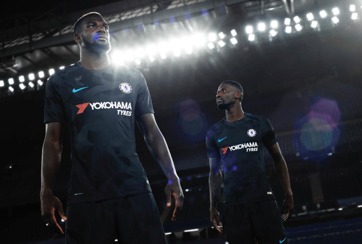 New signings Tiemoue Bakayoko and Antonio Rudiger in Chelsea's third kit