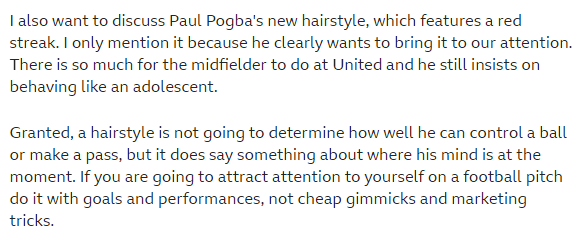 Crooks' comments on Pogba