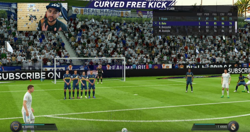 The curved free kick is best when taken by players with high curve and FK accuracy scores