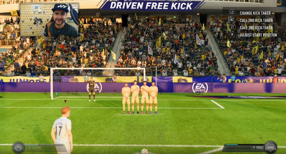 The driven free kick is so impressive to watch when it comes off