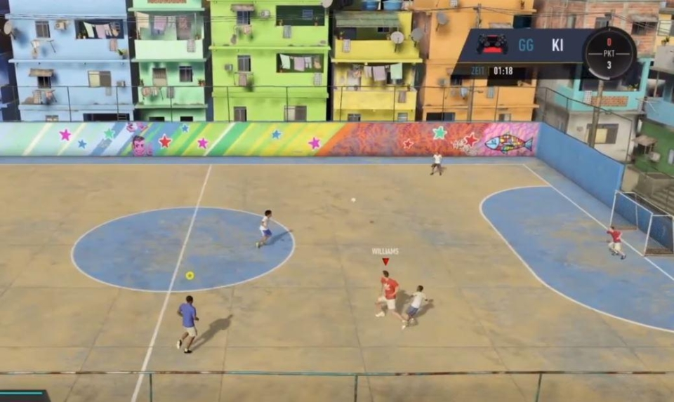 Gameplay is fast and fun in a nod to the brilliant FIFA Street series