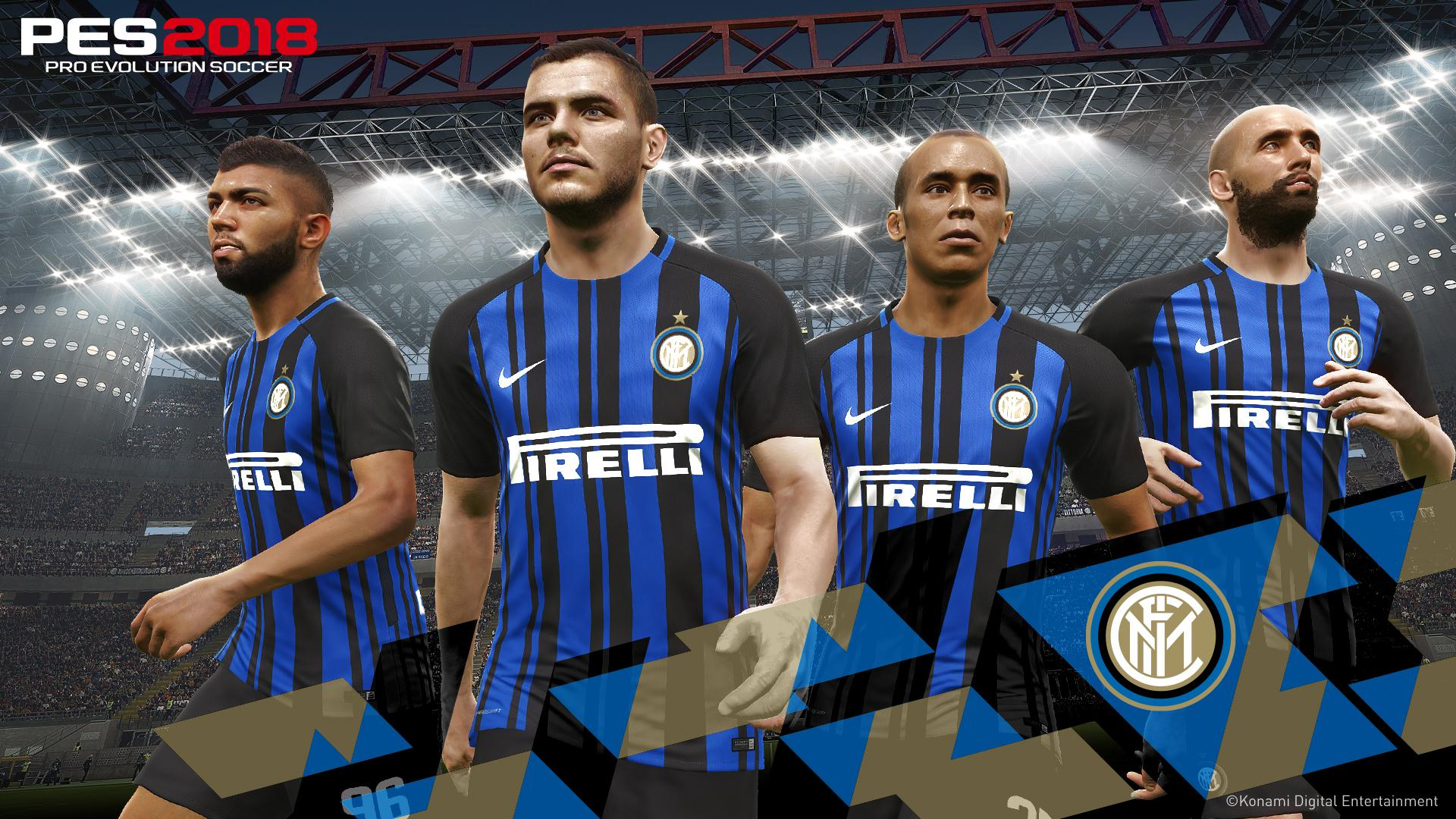 Konami added the likes of Inter Milan to their licensed roster this year but ultimately you'll still have to download the option file