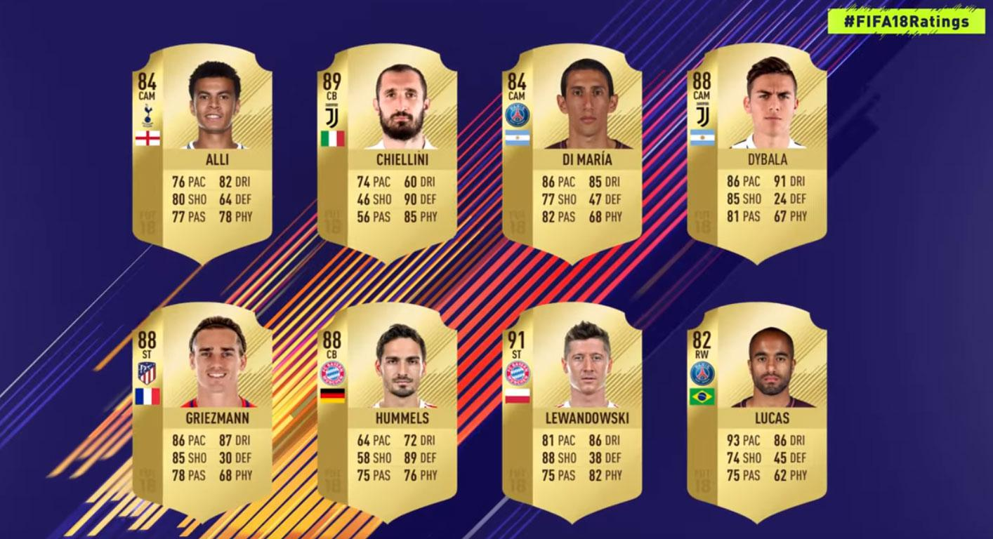 Some of the world's best players featured in a trailer for the FIFA 18 ratings campaign