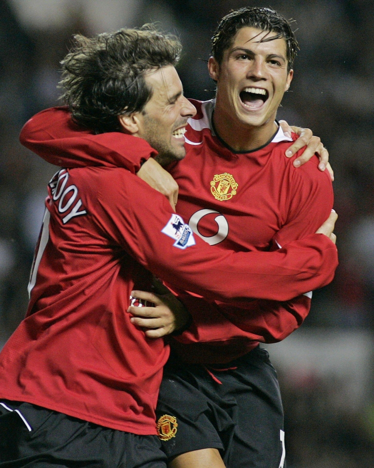 Ronaldo replaced Van Nistelrooy as the club's main outlet for goals soon after