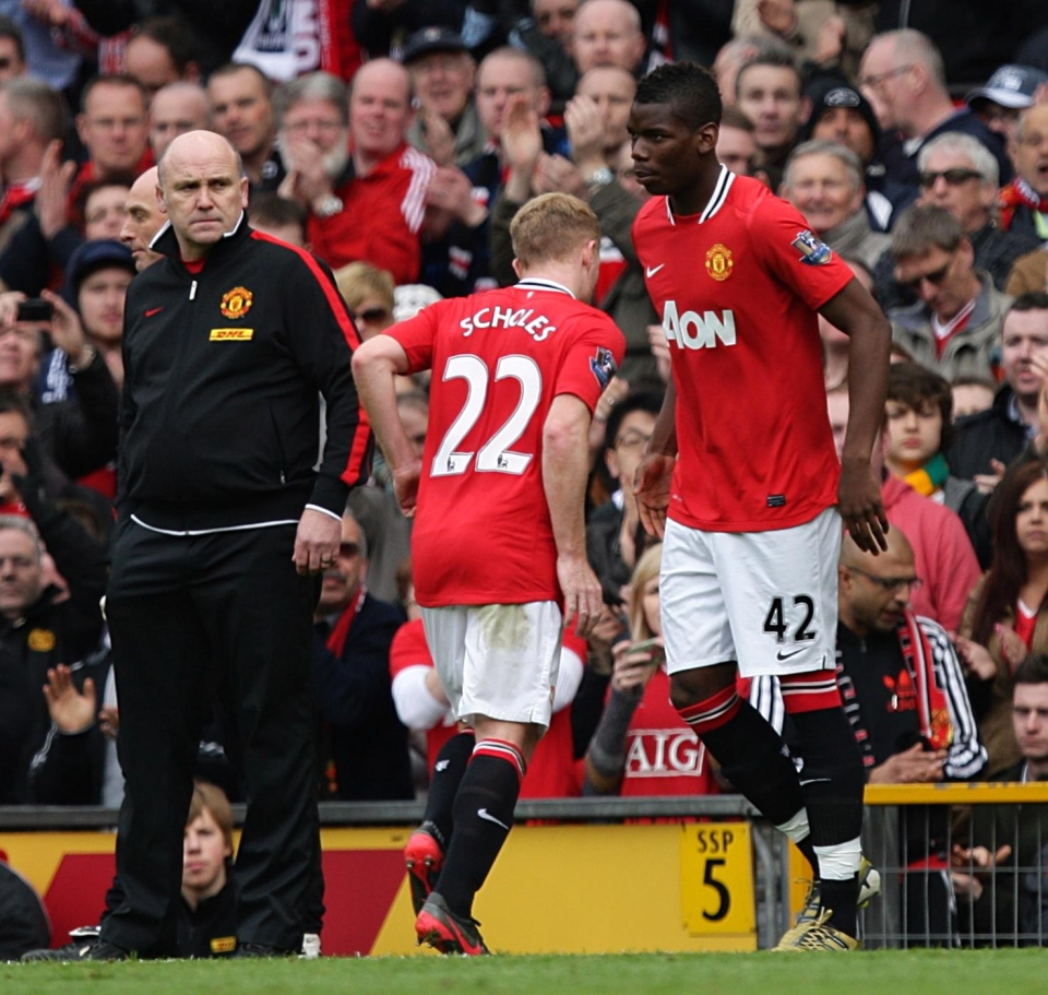 Pogba says he was honoured to come off the bench to replace Scholes in his testimonial