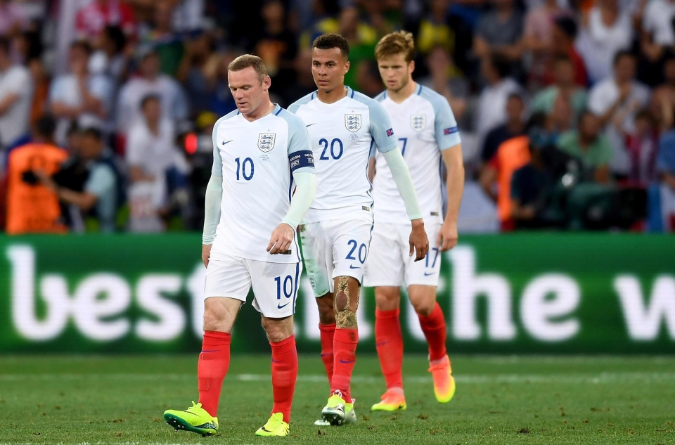 England lost 2-1 to Iceland in the last-16 in France at Euro 2016