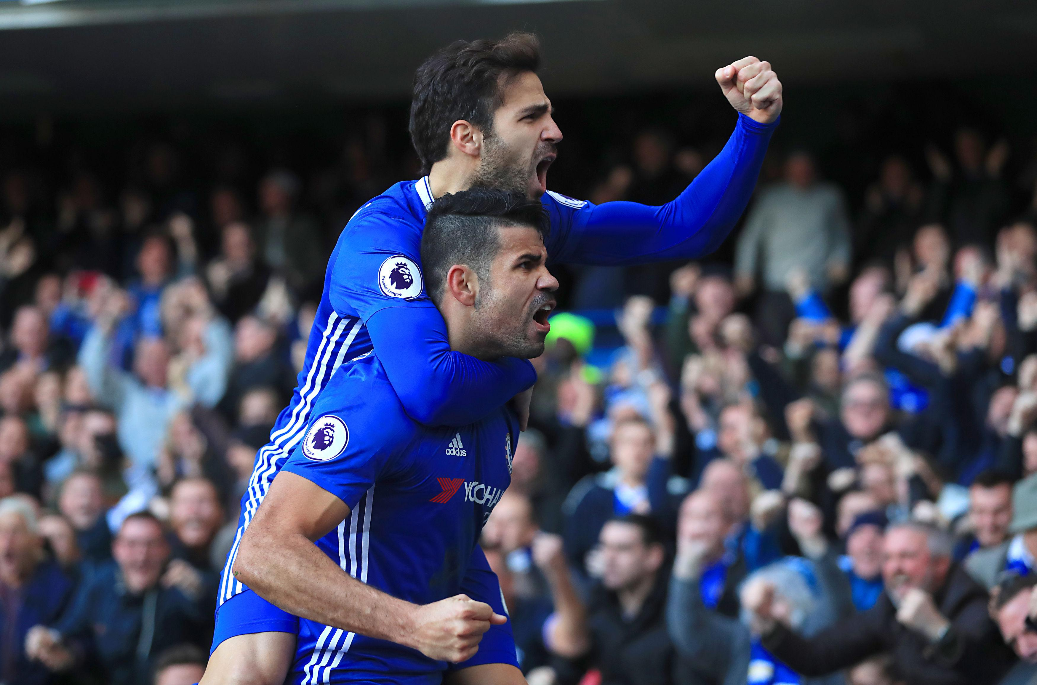 Fabregas and Costa enjoyed a successful first season together at Stamford Bridge