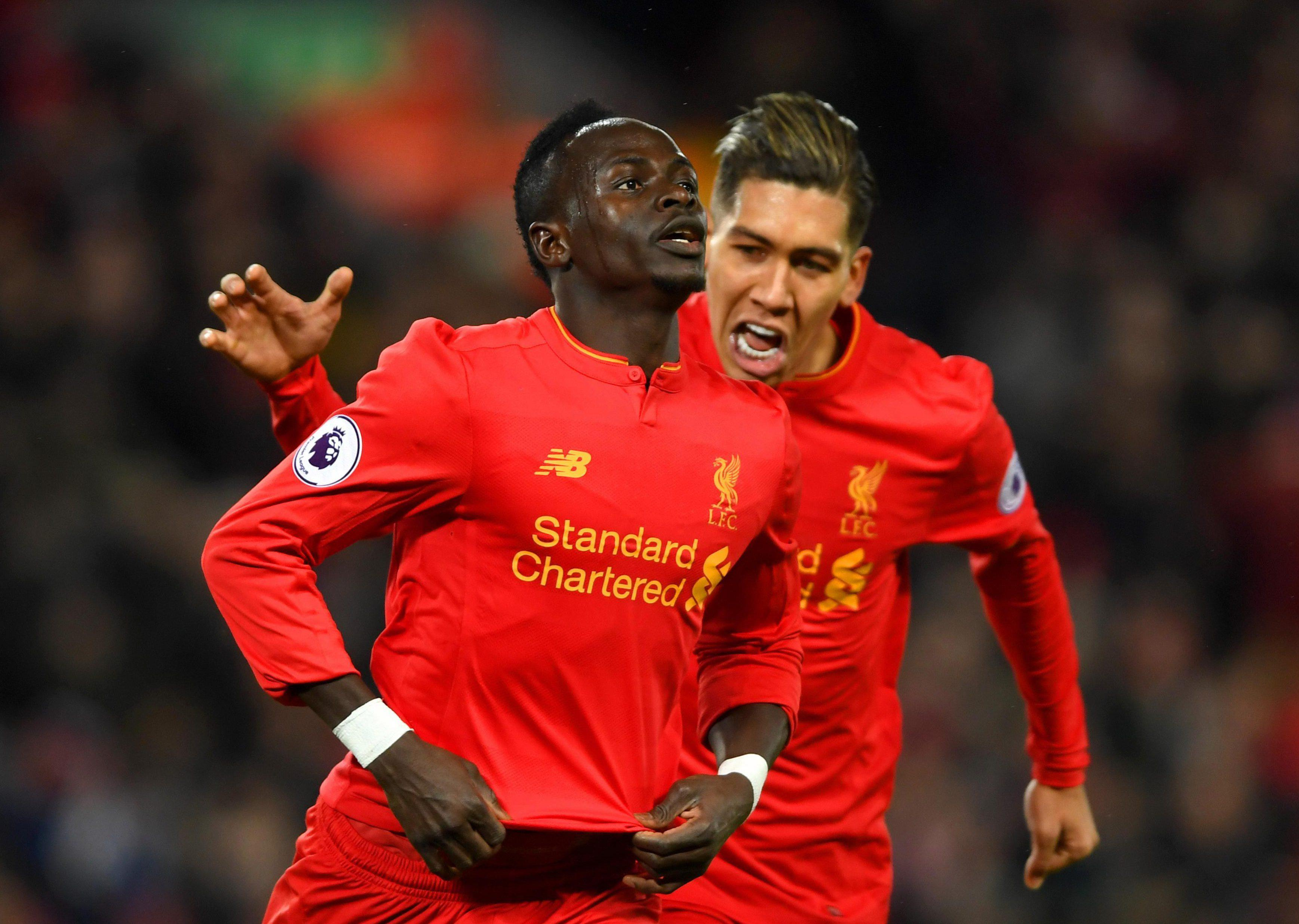 Sadio Mane and Roberto Firmino are part of one of the best front three in the league at Liverpool
