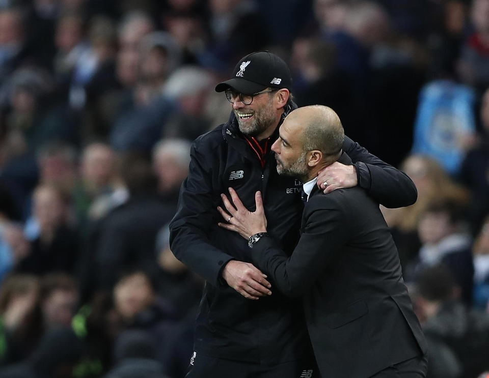 Jurgen Klopp and Pep Guardiola are set to go head-to-head once more