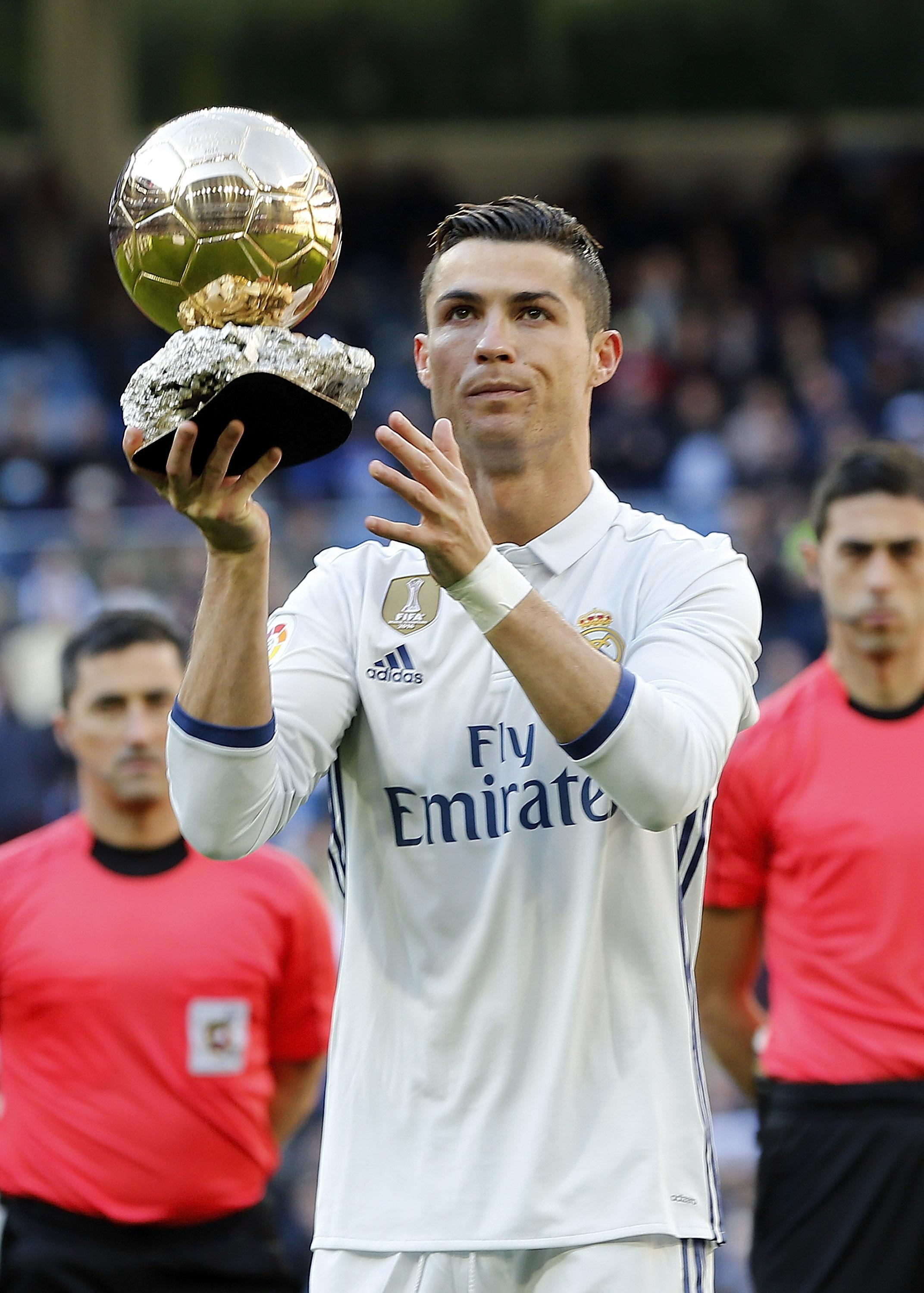 Real Madrid star Ronaldo is the reigning world player of the year