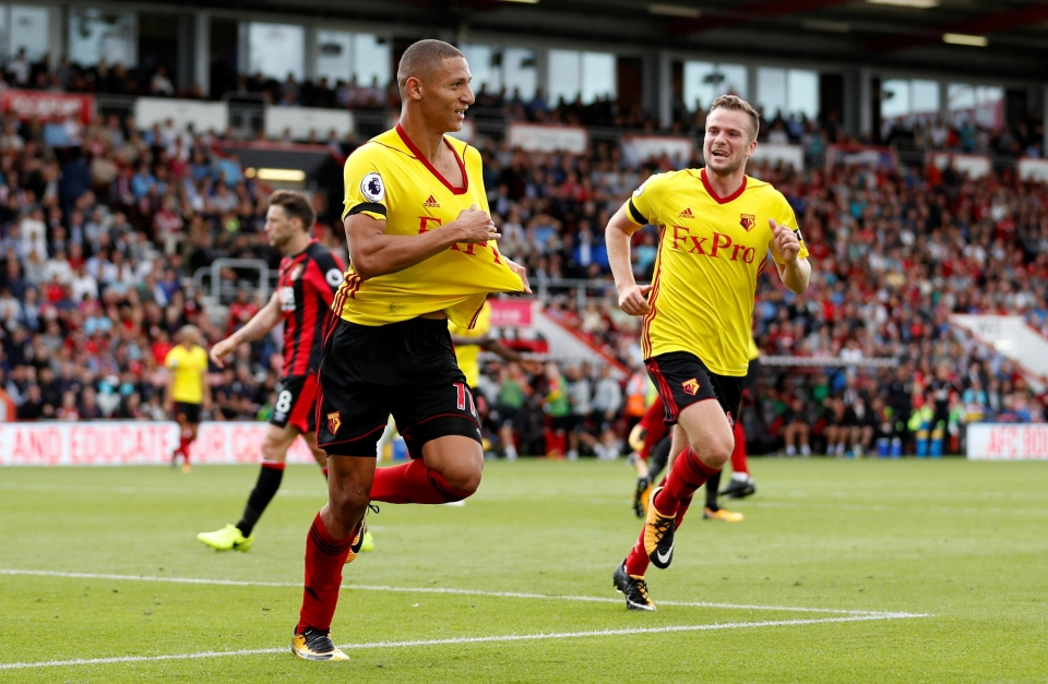 Richarlison scored in the club's 2-0 win over Bournemouth