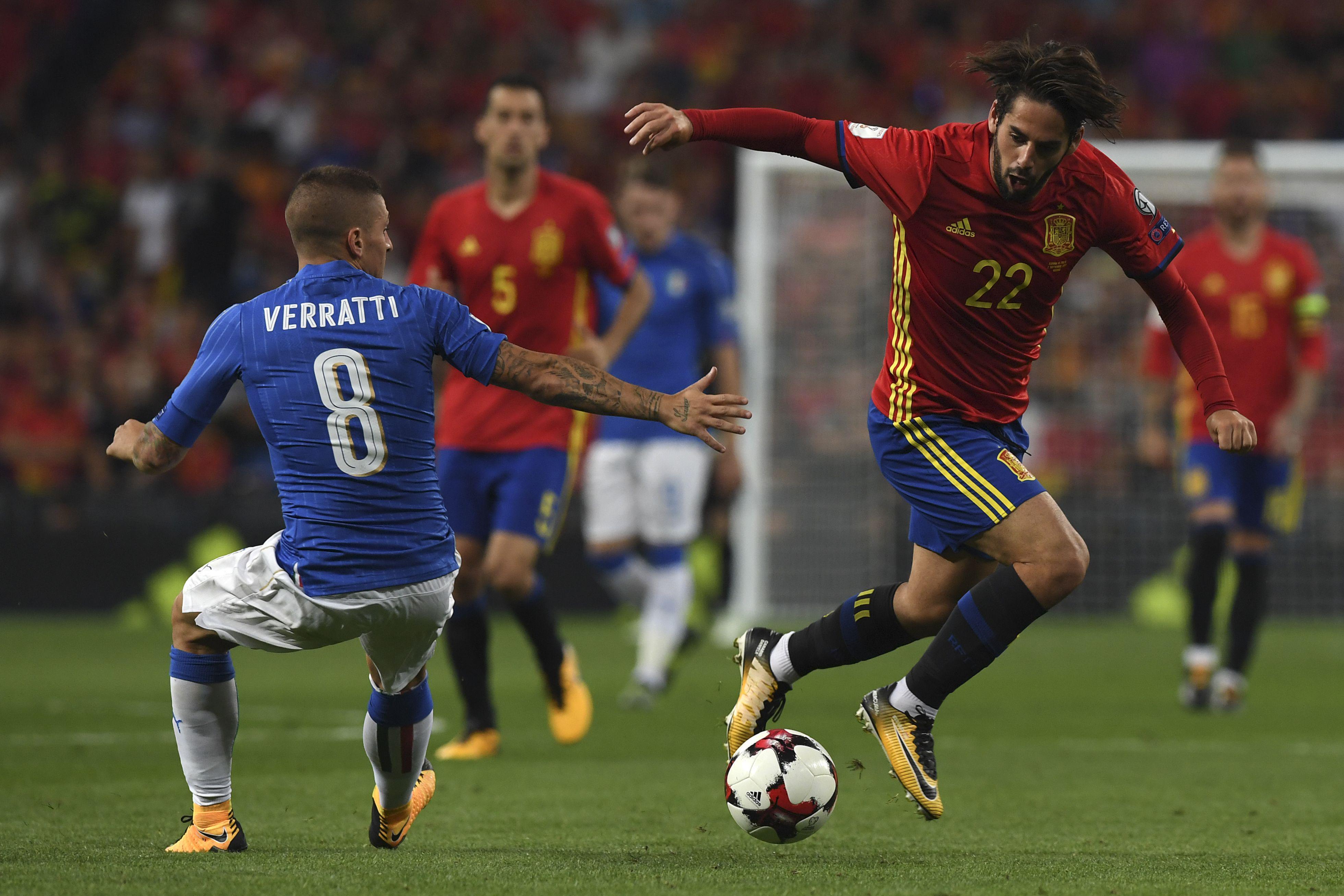 Verratti couldn't get close to Isco all night