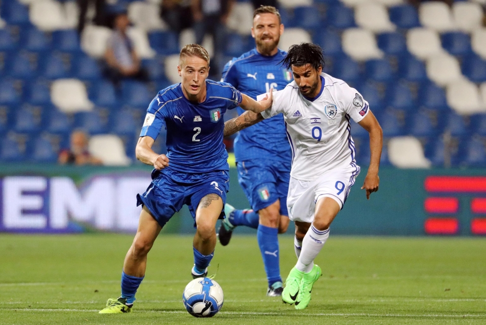 He played his first game for Italy against Israel
