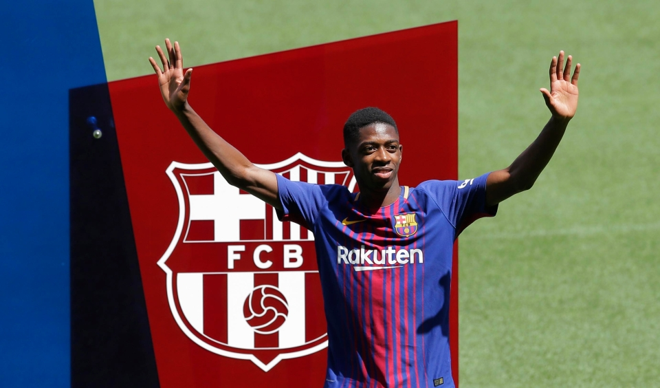 Dembele sealed his dream move to Camp Nou in a £97m deal from BVB