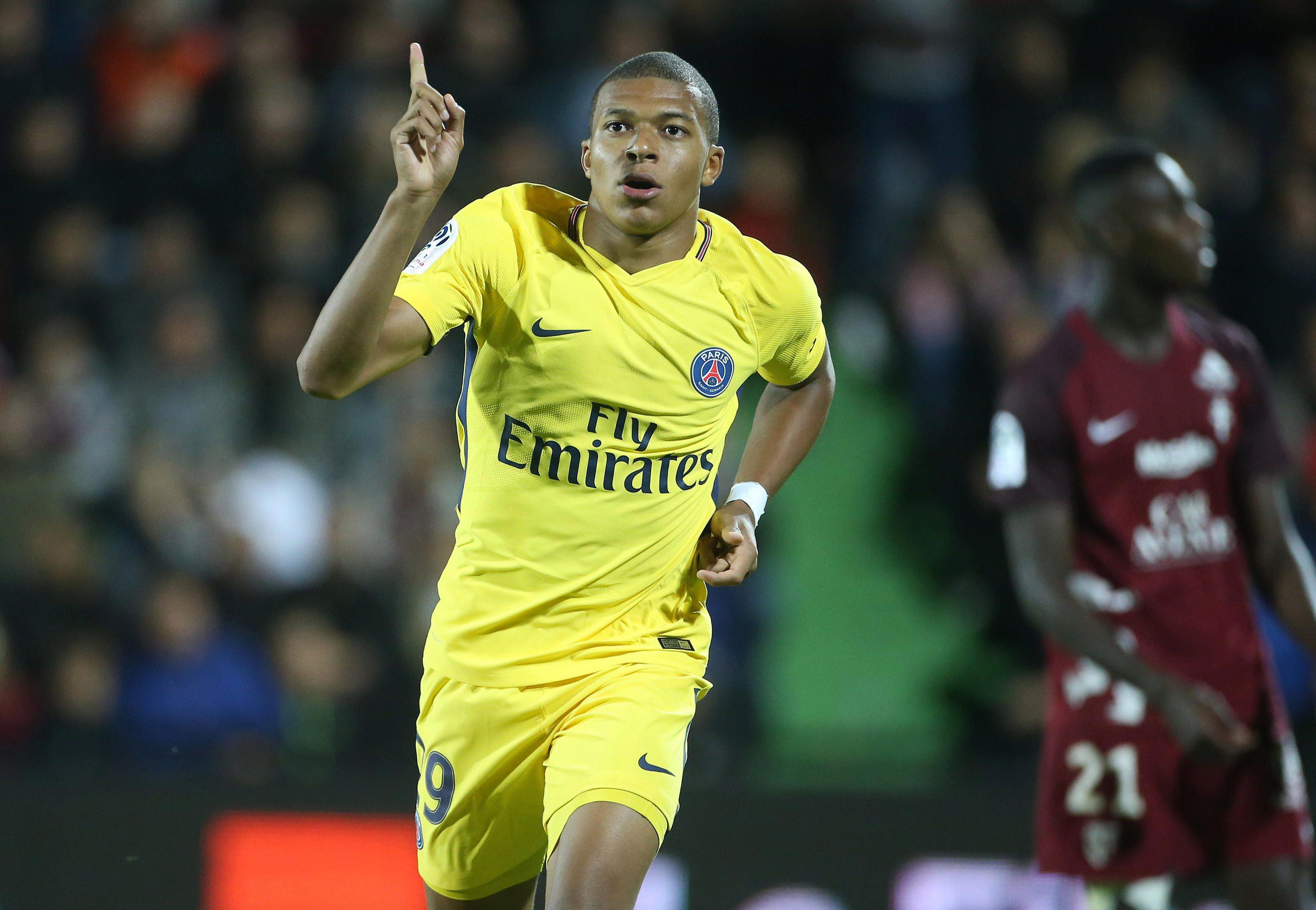 Mbappe scored in his debut for PSG