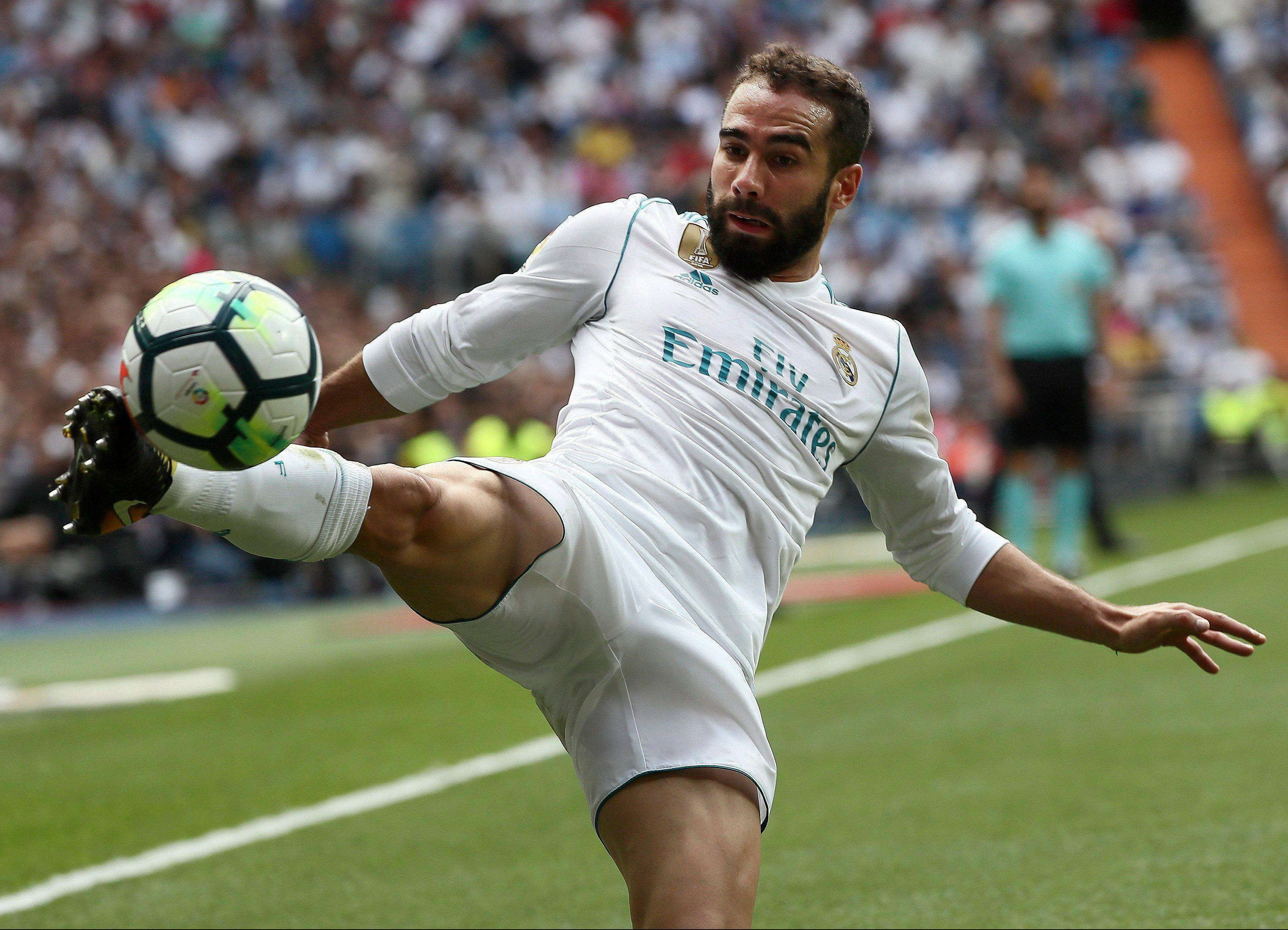 Right-back Dani Carvajal joined Real four years ago and is set to stay until 2022