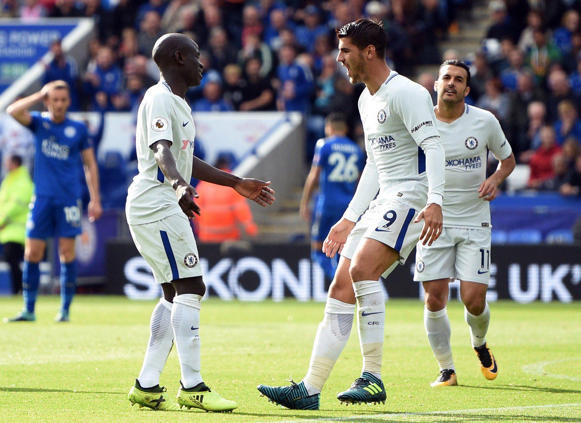 The modest midfielder celebrates his goal with Morata