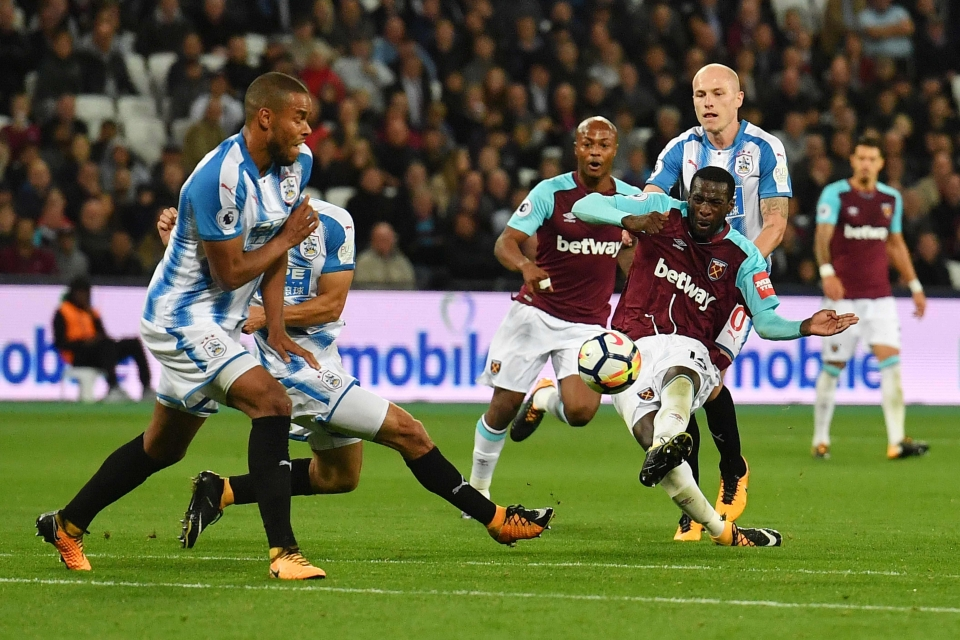 Pedro Obiang's strike took a huge deflection before flying in