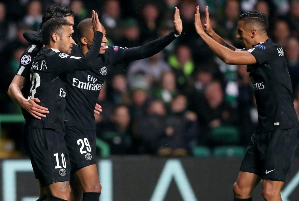 The front three were electric again for the Parisiens