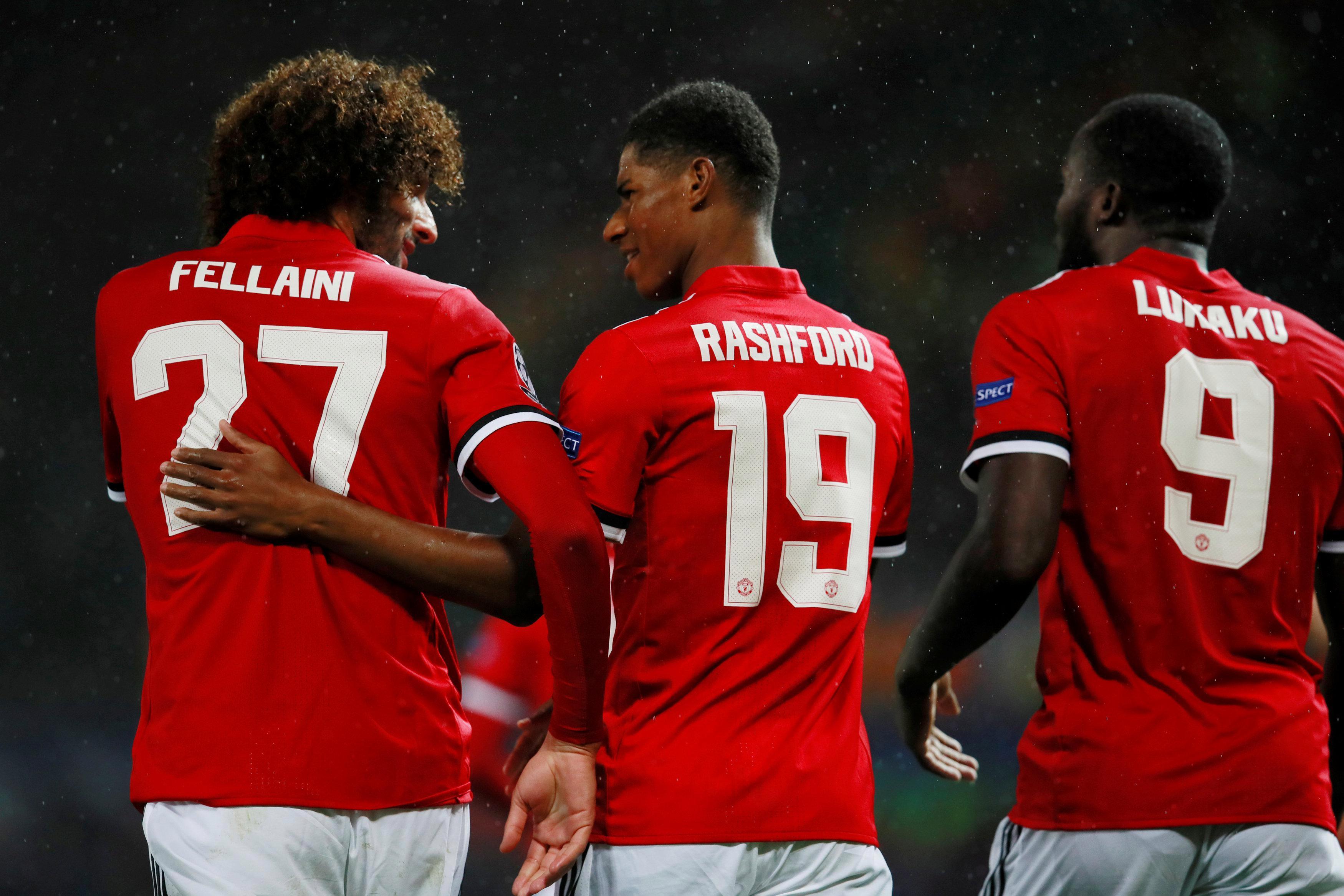 Fellaini, Rashford and Lukaku were all on target for Manchester United