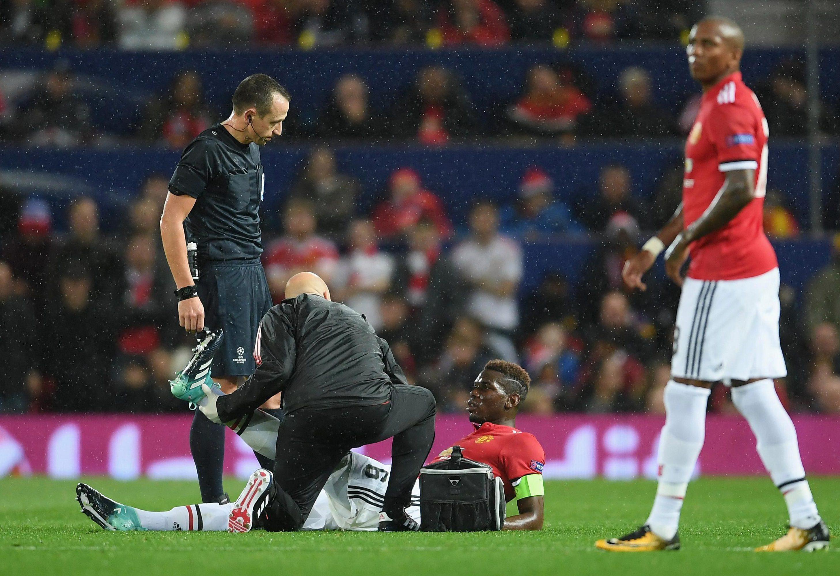 The former Juventus man injured his left leg against Basel